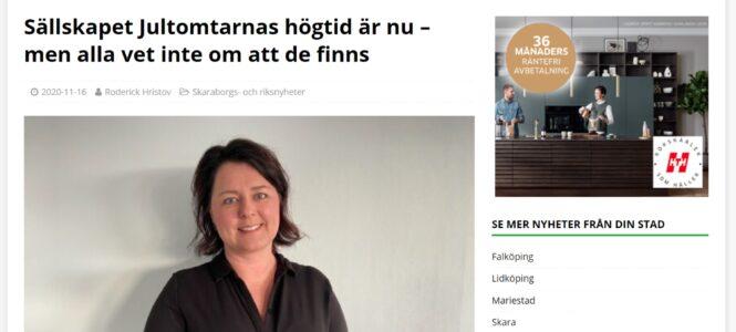Om Jultomtarna i Skaraborgsnyheter